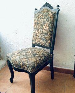silla alfonsina del Siglo XIX.