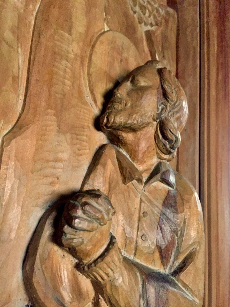 Talla de madera San huberto