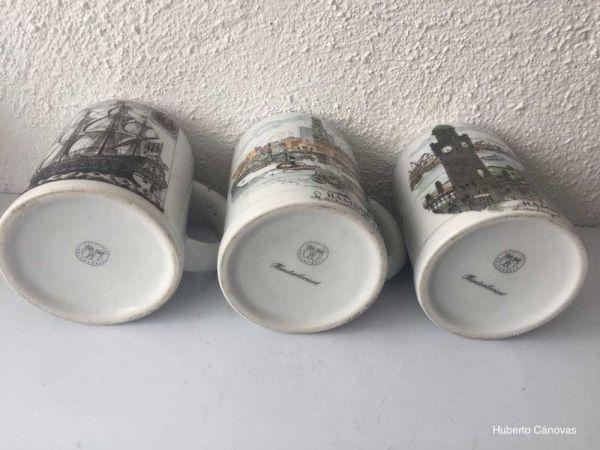 Jarras de cerveza alemanas pintadas a mano
