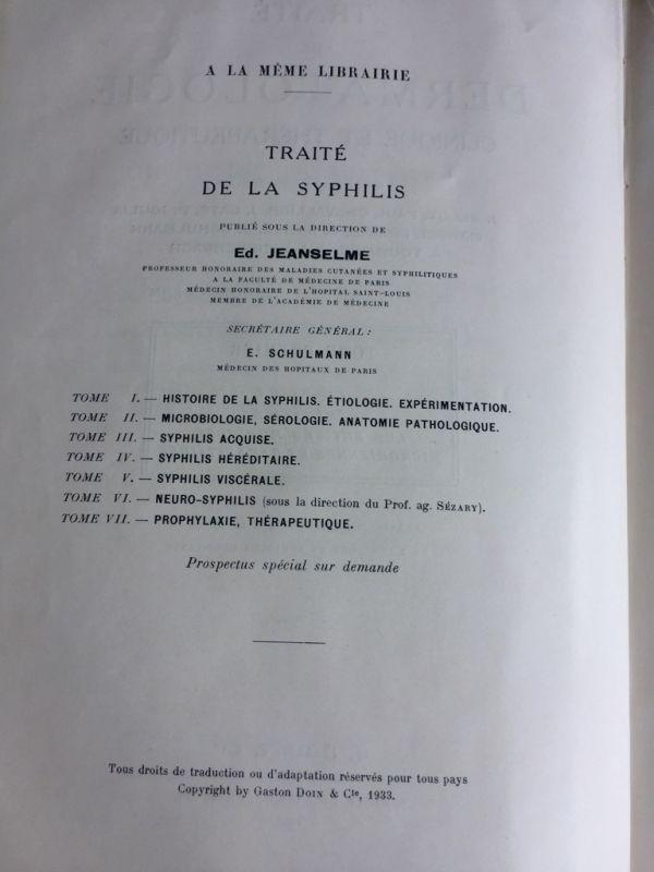 Traité de Dermatologie Clinique et Thérapeutique J. Belot 2 tomos