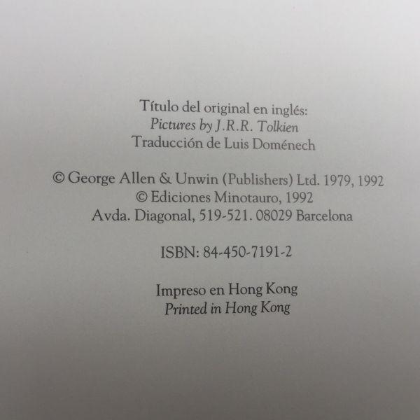 Pinturas y Dibujos, Tolkien ISBN: 84-450-7191-2