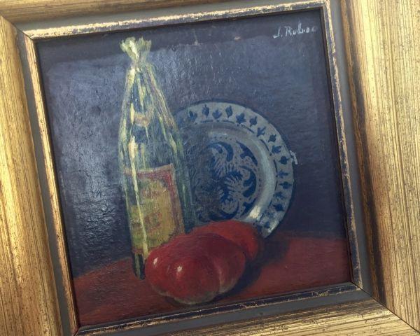 Pintura bodegón detalle