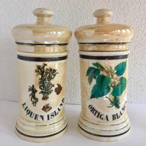 Porcelana y cerámica: Albarelos de farmacia