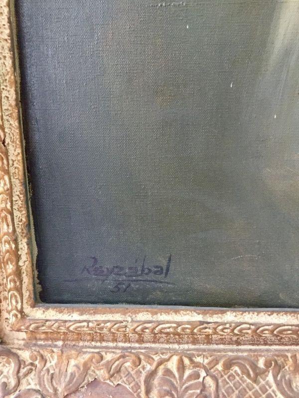 Retrato Óleo sobre lienzo Reyzábal Firma