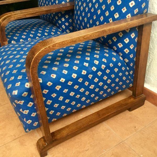 Butacas Art Deco antiguas estilo francés