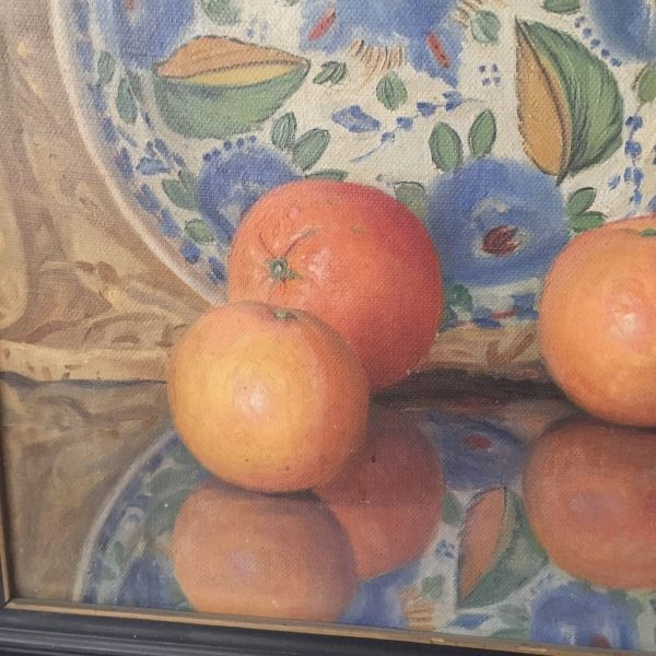 Vicente Paricio Bodegón Óleo. Naranjas