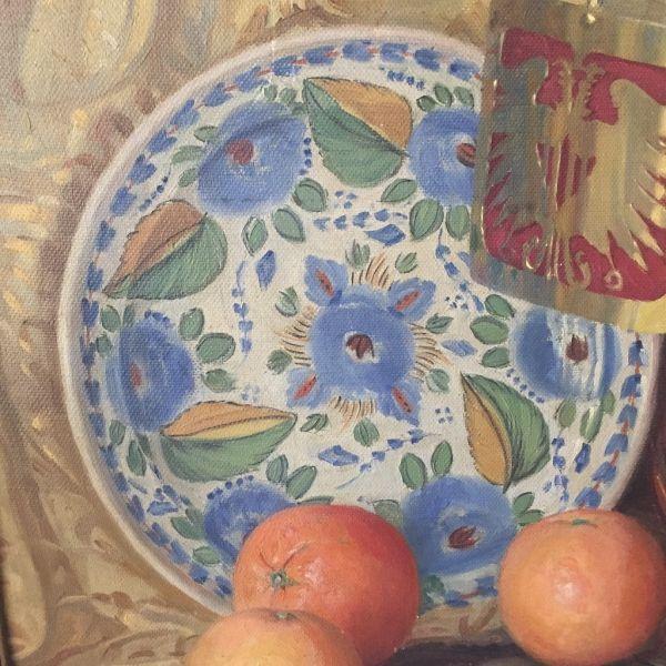 Vicente Paricio Bodegón Óleo sobre lienzo Detalle 4