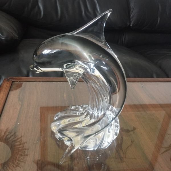 Escultura de cristal Murano. Delfín.