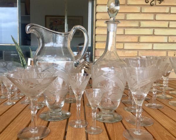 Antigua cristalería tallada 7