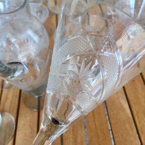 Copas de cristal tallado antiguas 5