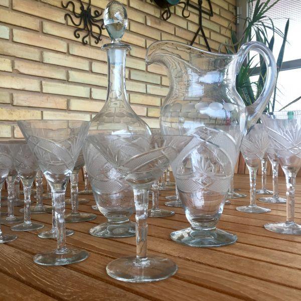 Antigua cristalería tallada