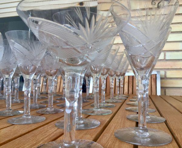 Copas de cristal tallado antiguas 1
