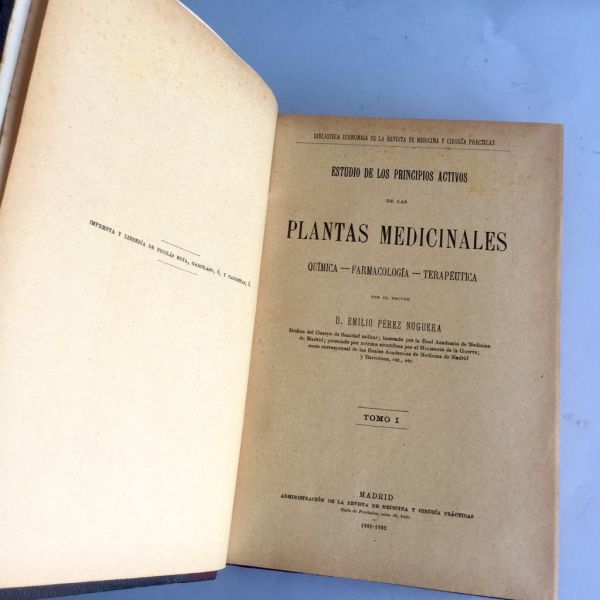 Estudio de las Plantas Medicinales E. P. Noguera 1901