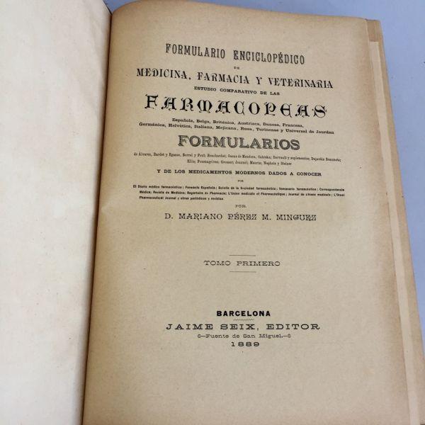 Formulario Enciclopédico Farmacopeas 1889