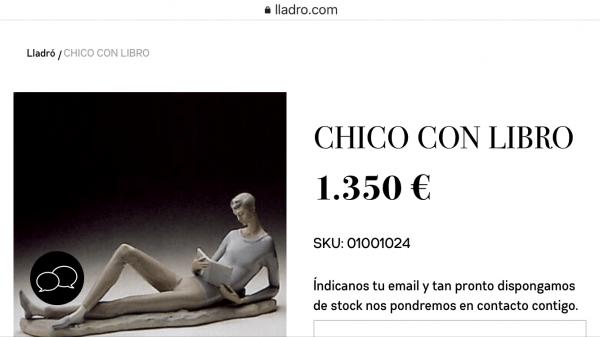 Figura de Lladró porcelana 1350€