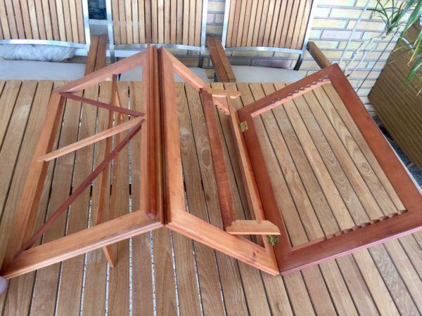 Gran atril de madera noble artesanal plegable