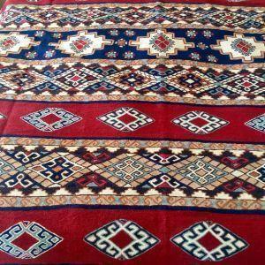 Alfombra hecha a mano de Tariq Katwari, Kashmir India 1990