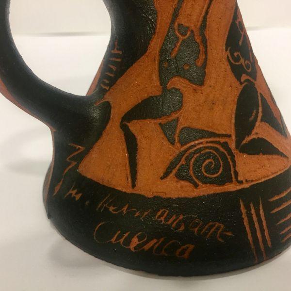 Palmatoria de cerámica de Hernansanz, conquense