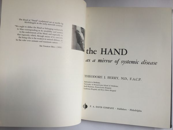 The HAND as mirror of systemic disease, J. Berry 1963